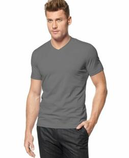 $115 ALFANI Men's CLASSIC FIT STRETCH GRAY SHORT SLEEVE V NE