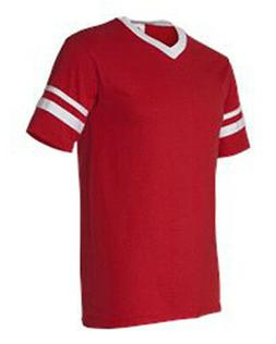 21Augusta Sportswear - V-Neck Jersey with Striped Sleeves -