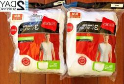 3 Pack Hanes Men's V Neck T Shirt Undershirt ComfortSoft Tag