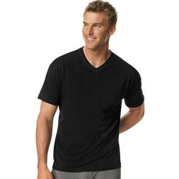 4-Pack Hanes Men's Dyed ComfortSoft TAGLESS V-Neck Undershir