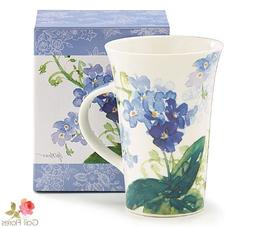 Forget Me Nots Blue Floral Coffee Mug