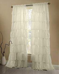 Gee Di Moda Cream Ruffle Curtains Gypsy Lace Curtains for Be