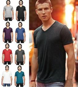 Anvil Adult Men's Tri-blend Short Sleeve V-Neck T-Shirt Tee