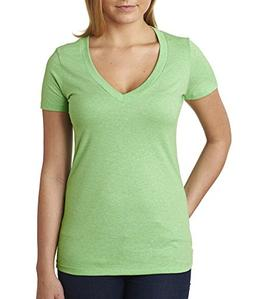Next Level Apparel 6640 CVC Deep V-Neck Tee - Apple Green, M