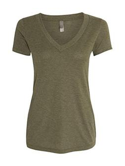 Next Level Apparel 6740 Lady Tri-Blend Deep V Neck T-Shirt -