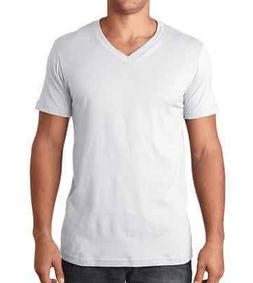 Bella + Canvas New Mens V-Neck T-Shirt 100% Cotton Tee Plain