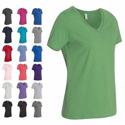 Bella + Canvas Relaxed Short Sleeve Jersey V-Neck Relaxed Fi