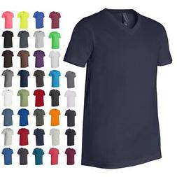 Bella + Canvas Unisex Mens & Womens Short Sleeve V-Neck Jers