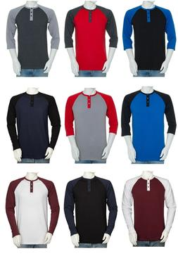 Styllion Big and Tall & Regular sizes - Men's Raglan Henley