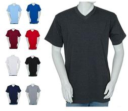 Styllion Mens Shirts Big and Tall V Neck - Short Sleeve - He