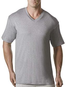 Harbor Bay by DXL Big and Tall 3-pk. V-Neck T-Shirts, Grey 2