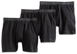 Calvin Klein Men's 3-Pack Classic Knit Boxer, Black, Small