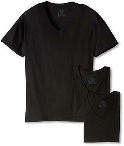 Hanes Men's Classics 3 Pack Black V-Neck Tee