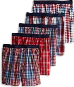 Hanes Ultimate Men's 5-Pack Young Fashion Plaids Boxer, Asso