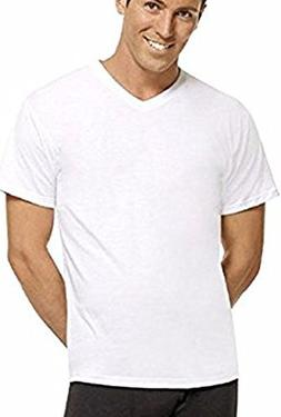 Hanes ComfortBlend Mens Perfect T White V-Neck Undershirt 3-