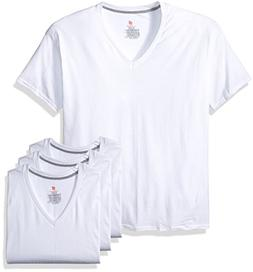 Hanes Men's 3-Pack Comfortblend V-Neck, White, Small
