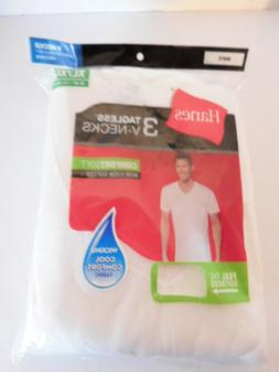 Hanes Men's ComfortSoft V-Neck Undershirt 777, XL, White