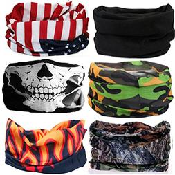 KALILY 6PCS Headband Bandana - Versatile 12-in-1 Sports & Ca