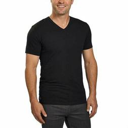 cotton stretch v neck classic black fit