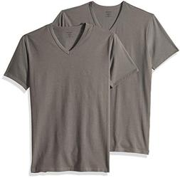cotton stretch v neck t