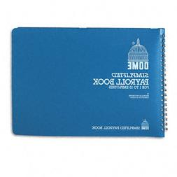 Dome 710 Simplified Payroll Record, Light Blue Vinyl Cover,