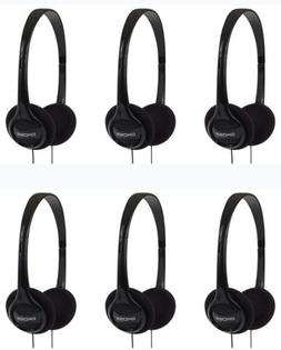 Koss 6-Pack On-Ear Portable Stereo Headphones 4Ft Cable