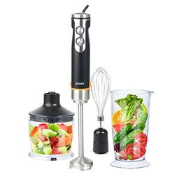 Hand Blender Set Portable Mixer Stick Kit 400W with Variable