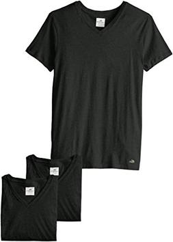 Lacoste Men's 3-Pack Essentials Cotton V-Neck T-Shirt, Black