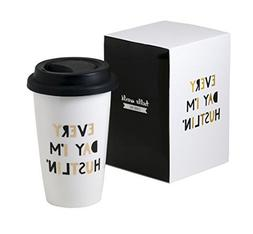 Every Day Im Hustlin Thermal Ceramic Coffee Mug With Lid and