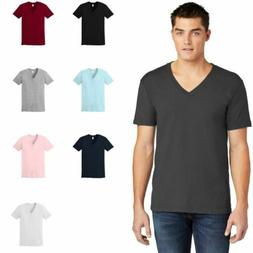 American Apparel Fine Jersey V-Neck T-Shirt Ring Spun Cotton