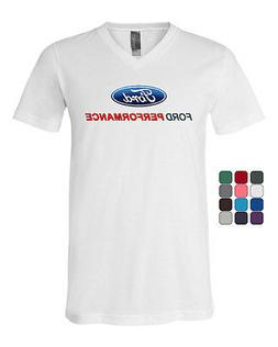 Ford Performance V-Neck T-Shirt Ford Mustang GT ST Racing Te
