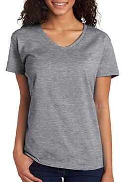 Gildan Heavy Cotton Ladies' V-Neck T-Shirt>2XL Sport Grey 5V