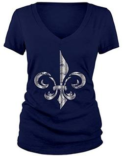 junior s silver faded distressed fleur de