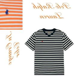 Polo Ralph Lauren Kids V Neck Striped T Shirt