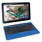 "2 in 1 Tablet Laptop 10.1"" Screen Quad-Core 32GB Keyboard HD"