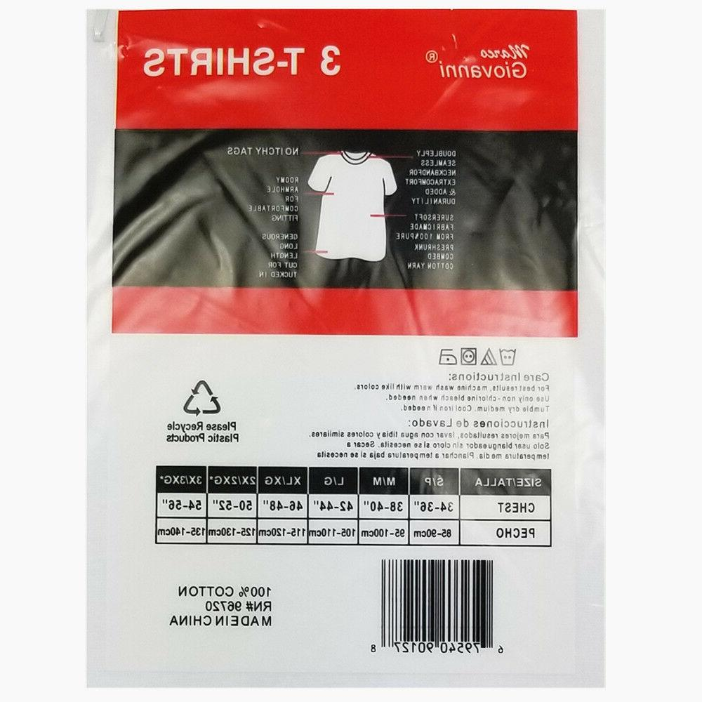 3-12-Pack 100% Cotton Tagless Undershirt