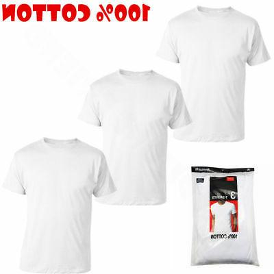 3-6-12 MENS COTTON NECK V-NECK TAGLESS T-SHIRT S-3XL