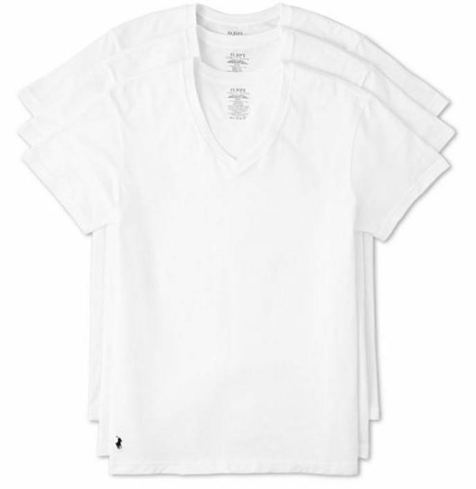 Polo Ralph Lauren 3-Pack Men's Classic Fit Cotton V-Neck T-S