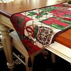 6ft Tapestry Fabric Holiday Table Runner 13x72 Snowman Poins