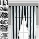 Black and White Curtain Panels Window Treatments Drapes Mode