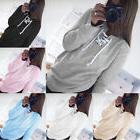 Women Lace Up V Neck Long Sleeve Casual Loose Pullover Hoodi