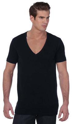 Bella+Canvas Mens Unisex Deep V-Neck T-Shirt Tee XS -2XL Men