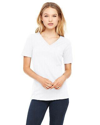 Bella + Canvas Women's Relaxed Jersey Short-Sleeve V-Neck T-
