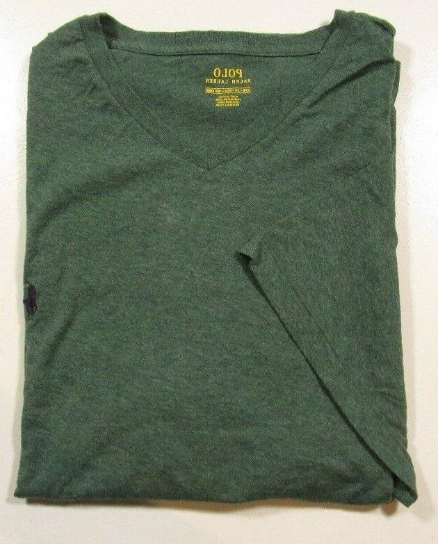 Polo Ralph Lauren Big & Tall Men's Heather Green V-Neck T Sh