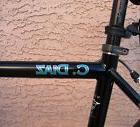 Bike Frame Name Decal Set 29er - Custom 2 Color Sticker