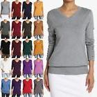 TheMogan Button Long Sleeve V-Neck Loose Fit Knit Pullover S