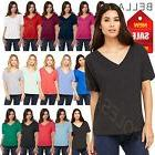 canvas ladies premium slouchy flowy v neck