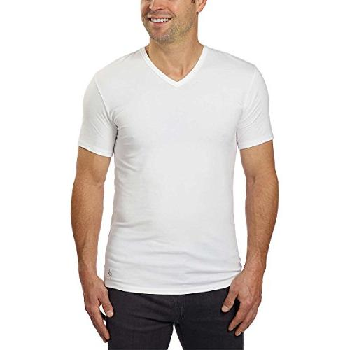 cotton stretch v neck