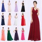 Ever-Pretty US Long Bridesmaid Dresses Chiffon V-Neck Formal
