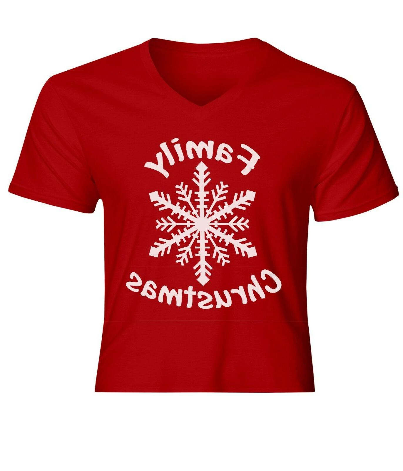 family christmas with snow mens women unisex